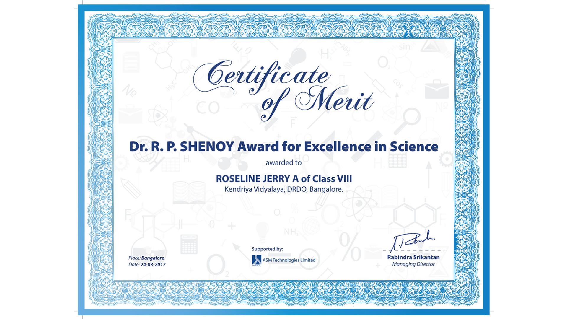 shenoy award